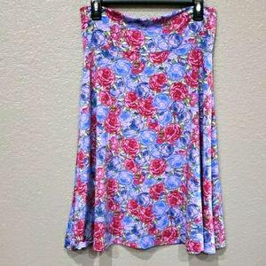 💥2/$25 Lularoe Azure A-Line floral skirt size Med